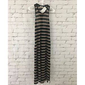 Joie Nordstrom Pink Striped Maxi Tank Dress NWT